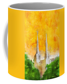 Coffee Mug featuring the painting Like A Fire Is Burning by Greg Collins