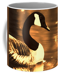 Lila Goose The Pond Queen Sepia Coffee Mug