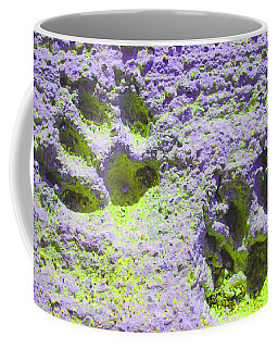 Lilac And Green Pawprints Coffee Mug