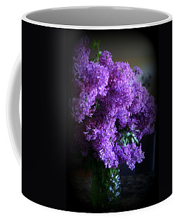Lilac Bouquet Coffee Mug by Kay Novy