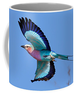 Lilac-breasted Roller In Flight Coffee Mug
