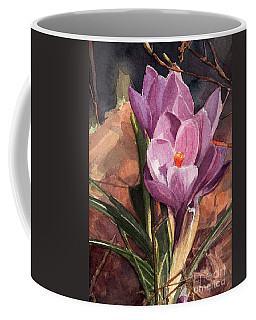 Lilac Crocuses Coffee Mug