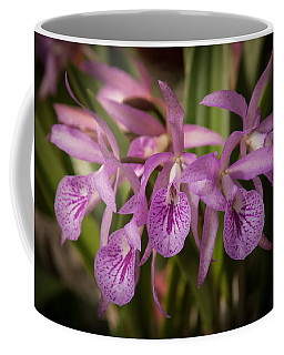 Coffee Mug featuring the photograph Lilac Orchid Cluster  by Penny Lisowski