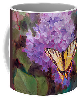 Lilacs And Swallowtail Butterfly Coffee Mug