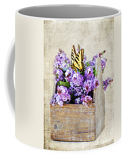 Lilacs And The Butterfly Coffee Mug