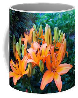 Lilies In The Garden Coffee Mug