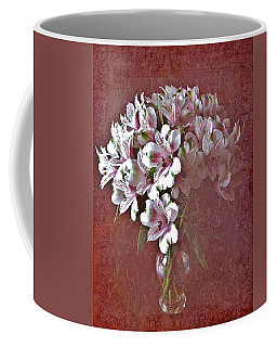 Coffee Mug featuring the photograph Lilies In Vase by Diane Alexander