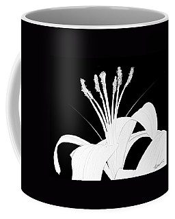 Lilium Black And White  Coffee Mug by Anthony Fishburne