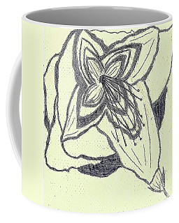 Coffee Mug featuring the drawing Lilly Artistic Doodling Drawing by Joseph Baril