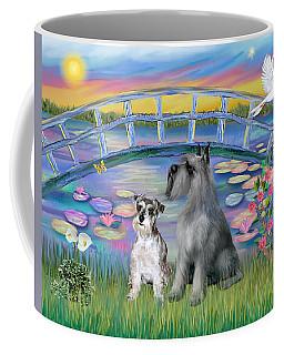 Lily Bridge With Two Schnauzers Coffee Mug