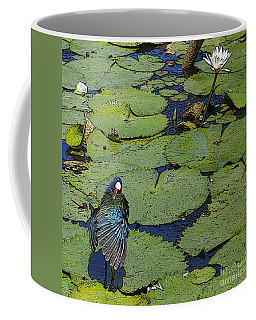 Lily Pad With Bird2 Coffee Mug