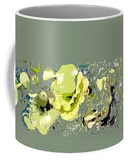 Coffee Mug featuring the digital art Lily Pads - Deconstructed by Lauren Radke