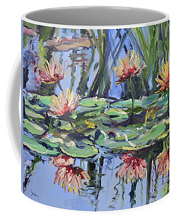Lily Pond Reflections Coffee Mug by Donna Tuten