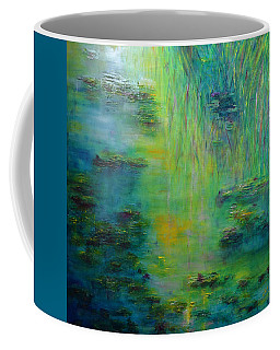 Lily Pond Tribute To Monet Coffee Mug