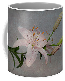 Pink Lily With Texture Coffee Mug