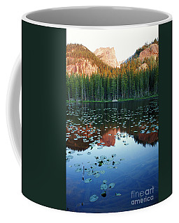 Lilypad Pond With Hallet Peak Coffee Mug