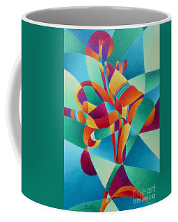 Coffee Mug featuring the painting Essentially Lily by Pamela Clements