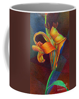 Coffee Mug featuring the painting Lily's Rainbow by Pamela Clements