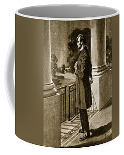Lincoln Looks Out From The White House Coffee Mug