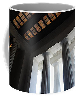 Lincoln Stained Glass And Columns Coffee Mug