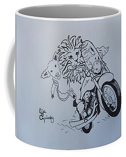 Lion And Lamb Coffee Mug