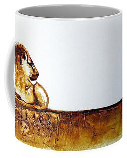 Lion And Lioness - Original Artwork Coffee Mug
