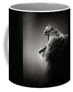 Lion Displaying Dangerous Teeth Coffee Mug