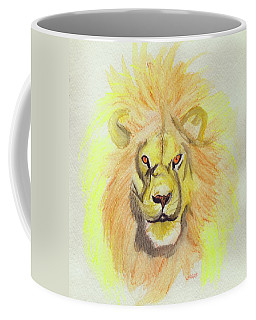 Lion Yellow Coffee Mug by First Star Art