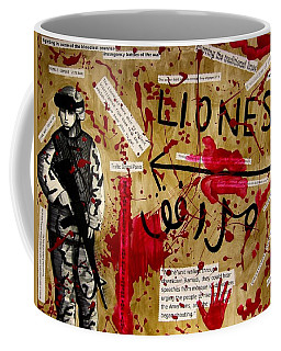 Coffee Mug featuring the mixed media Lioness by Michelle Dallocchio