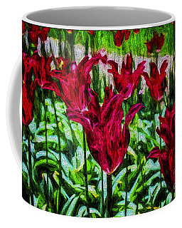 Lipstick Tulips Coffee Mug