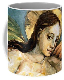 Listening Angel Coffee Mug by Carrie Joy Byrnes