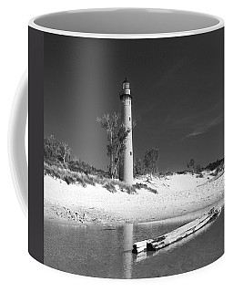 Litle Sable Light Station - Film Scan Coffee Mug by Larry Carr