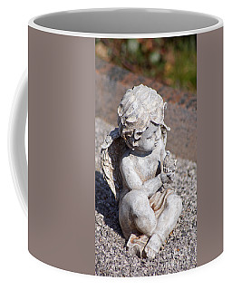 Little Angel With Bird In His Hand - Sculpture Coffee Mug