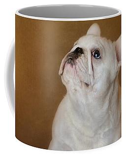 Little Beggar - White French Bulldog Coffee Mug