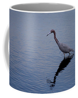 Coffee Mug featuring the photograph Little Blue Heron On The Hunt by John M Bailey