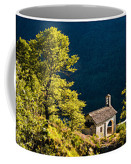 Little Chapel In Ticino With Beautiful Green Trees Coffee Mug