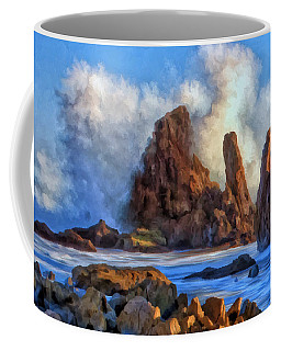 Coffee Mug featuring the painting Little Corona by Michael Pickett