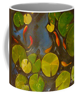 Little Fish Koi Goldfish Pond Coffee Mug