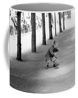 Little Girl With Ball Paris Coffee Mug