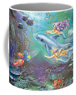 Little Mermaids And Dolphin Coffee Mug