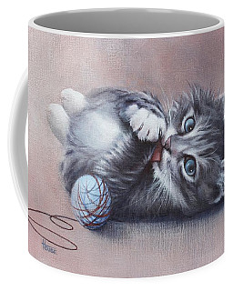Coffee Mug featuring the painting Little Mischief by Cynthia House