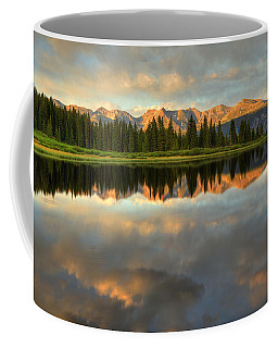 Coffee Mug featuring the photograph Little Molas Lake At Sunset by Alan Vance Ley