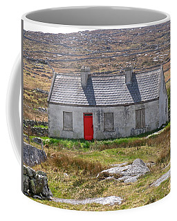 Coffee Mug featuring the photograph Little Red Door by Suzanne Oesterling