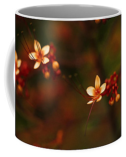 Little Red Flowers Coffee Mug by Bradley R Youngberg