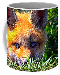 Coffee Mug featuring the photograph Little Red Fox by Bob Orsillo
