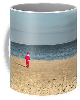 Little Santa On The Beach Coffee Mug
