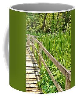 Little Wooden Walking Bridge Coffee Mug by Jean Goodwin Brooks