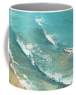 Coffee Mug featuring the painting Litttle Cove Beach Noosa Heads Queensland Australia by Chris Hobel