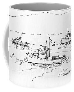 Lobster Boats Monhegan Island 1993 Coffee Mug