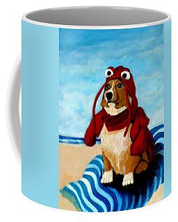 Lobster Corgi On The Beach Coffee Mug